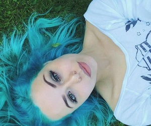 hair color and aquamarine image