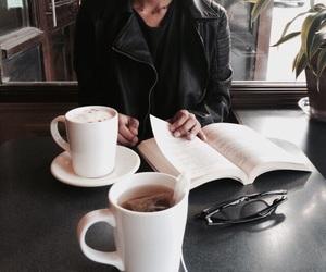 coffee, girl, and book image