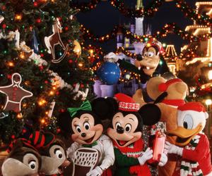 christmas, disney, and disneyland image
