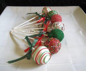 cake, christmas, and pops image