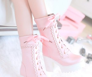 kawaii, pink, and pink shoes image