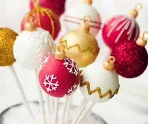 christmas, cake pops, and food image