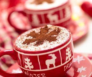 winter, christmas, and coffee image