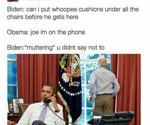 obama, biden, and funny image
