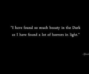 dark, quotes, and light image