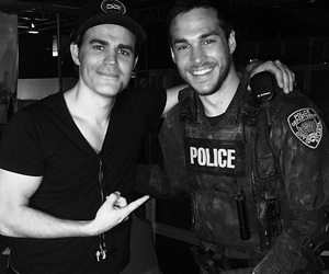 paul wesley, chris wood, and the vampire diaries image