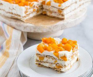 condensed milk, cream, and layer cake image