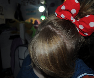 hair, photography, and bow image