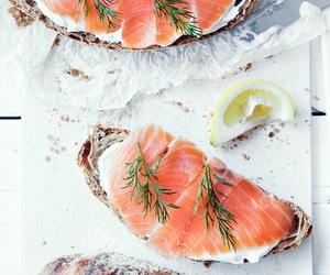 food, salmon, and fish image