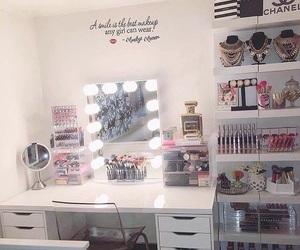 lights, makeup, and bedroom image