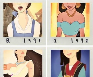 beautiful, belle, and disney princesses image