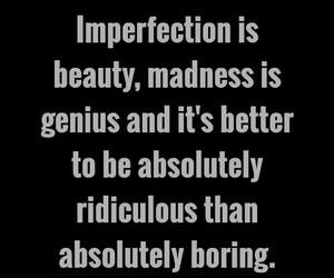 beauty, boring, and genius image