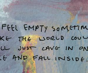 quotes, empty, and sad image