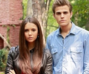 elena, stefan, and paul wesley image