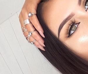 eyes, girl, and hair image