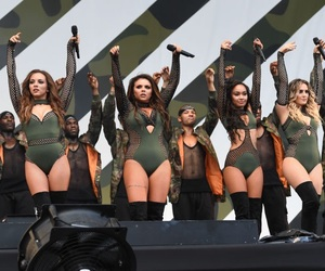 little mix, v festival, and perrie edwards image