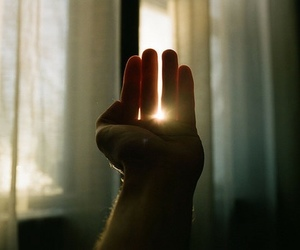 hand, sun, and photography image