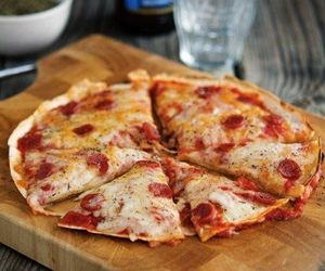 food, pizza, and cheese image