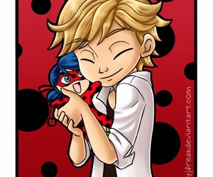 ladybug, miraculous, and adrien agreste image