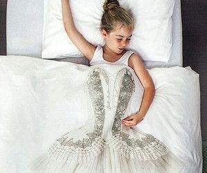 princess, bed, and ballerina image