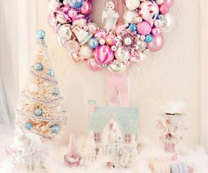christmas, pastel, and pink image