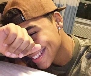 backwards, cap, and smile image