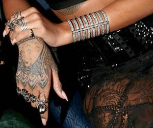 rihanna, tattoo, and nails image