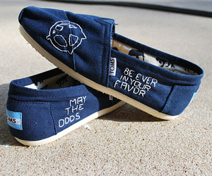 shoes, toms, and the hunger games image