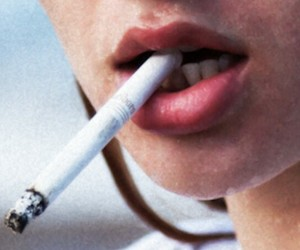 aesthetic, cigarette, and lips image