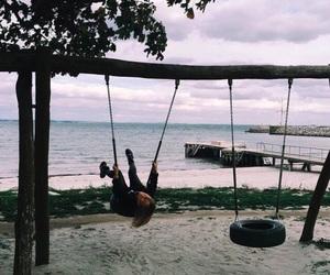 grunge, ocean, and swing image