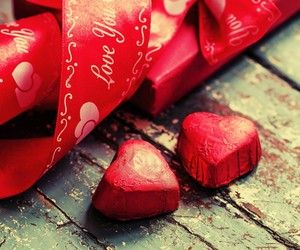 love heart red ribbons image