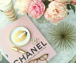 chanel, flowers, and girly image