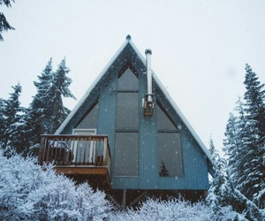 cabin, cold, and house image