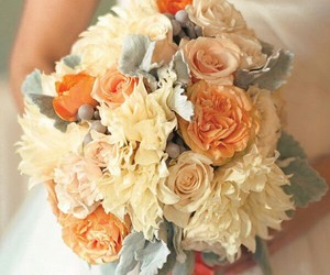 bouquets, wedding, and flowers image