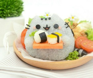 food, kawaii, and cat image