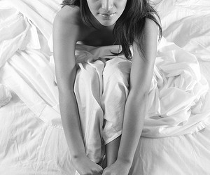 hair, Hot, and white sheets image