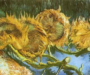 van gogh, art, and sunflowers image