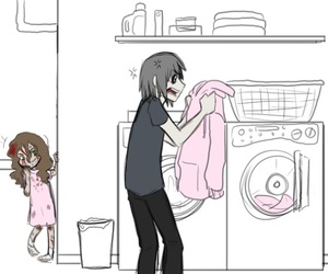 sally, jeff the killer, and pink image