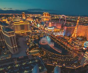 city, Las Vegas, and light image
