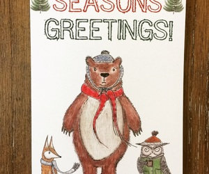 etsy, handmade cards, and merry christmas image