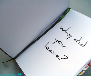 leave, question, and notebook image