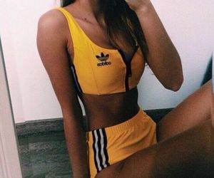 adidas, yellow, and body image