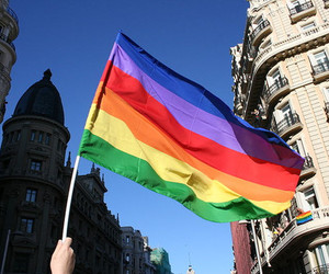 flag, rainbow flag, and lgbt image