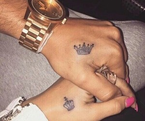 couples, tattos, and relationship goals image