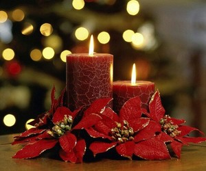 candle, christmas, and red image