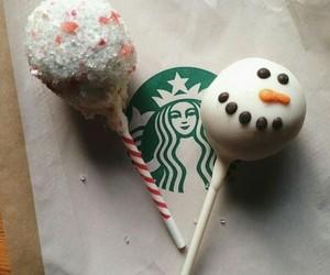 snowman, starbucks, and christmas image