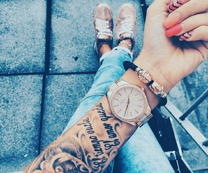 tattoo, nails, and ink image