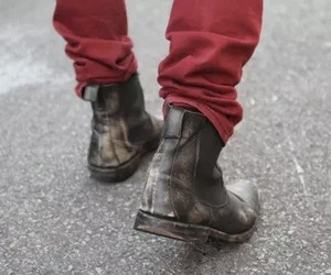 style, boots, and red image