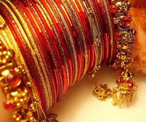 bangles, pakistani, and bride image