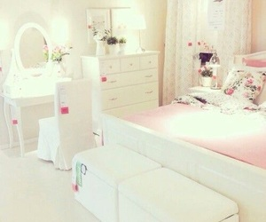 room, pink, and white image